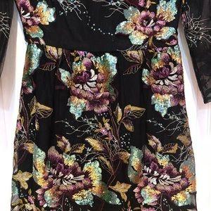 Belle Badgley Dresses - Belle Badgley Mischka Anna Floral Sequin Dress